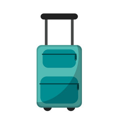 suitcase equipment travel icon vector image vector image