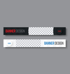 template of horizontal black and white web vector image