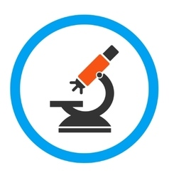 Labs Microscope Rounded Icon vector image vector image