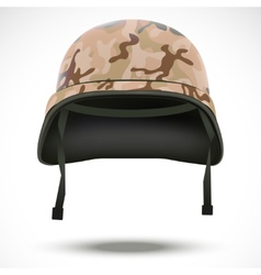 Military helmet with camo pattern vector image vector image