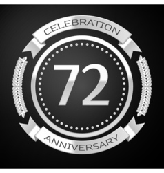 Seventy two years anniversary celebration with vector image vector image