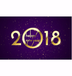 2018 happy new year background texture with vector image
