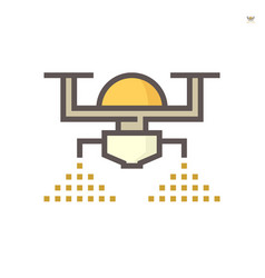 agriculture drone sprayer icon vector image