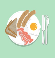 American breakfast vector
