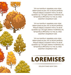 autumn background poster design with colorful vector image