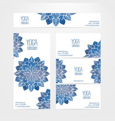 Banner business card templates watercolor vector
