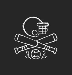 baseball chalk white icon on black background vector image