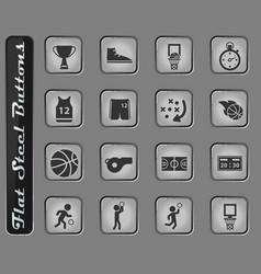 basketball simply icons vector image