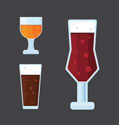 Beer icons set bar alcohol vector