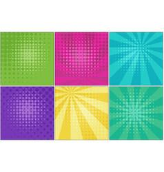 bright retro comic striped backgrounds vector image