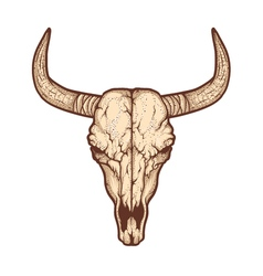 Bull skull native Americans tribal style Tattoo vector