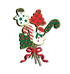 christmas-cookie-bouquet vector image