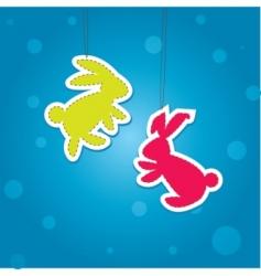 Christmas hare vector image