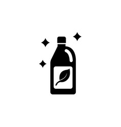 Cleaning agent flat icon vector