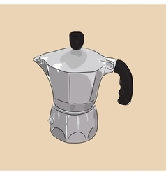 Coffee maker geyser vector