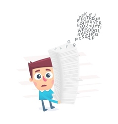 confusion in text documents vector image