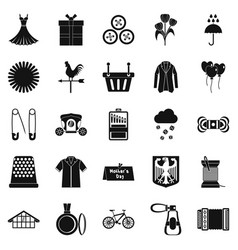Dress code icons set simple style vector