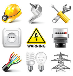 Electricity icons set vector