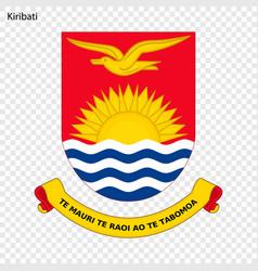 Emblem kiribati vector