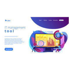 Financial management system concept landing page vector