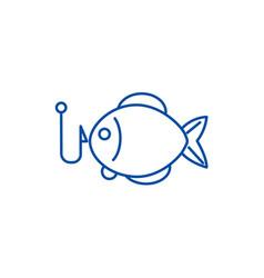 fishing line icon concept fishing vector image