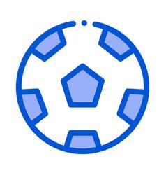 Football playing ball outline vector