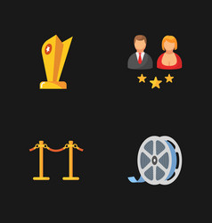 Four cinema icons vector