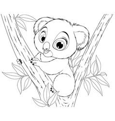 funny little koala vector image