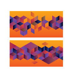 Geometric hexagon bright motif for header vector