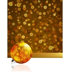 Gold happy Christmas cardwinter background EPS 8 vector