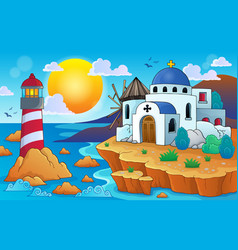 Greek theme image 7 vector