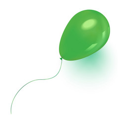 Green baloon flying for party and celebrations vector