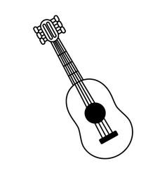 Guitar instrument music vector