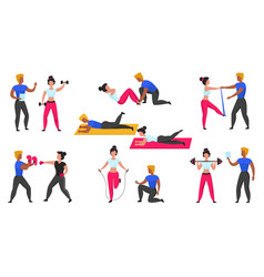 gym coach personal workout fitness trainer vector image