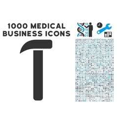 Hammer Icon with 1000 Medical Business Pictograms vector