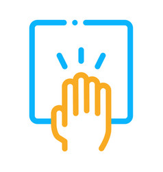 Hand clapping icon outline vector