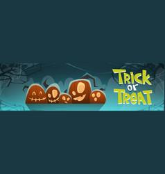 happy halloween trick or treat banner different vector image