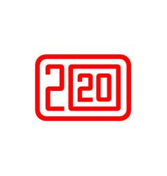 happy new year rat 2020 icon vector image