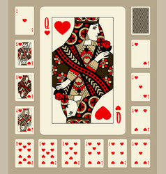 hearts suit playing cards vector image