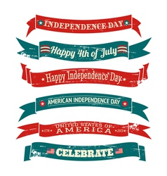 Independence Day Vintage Banners Collection vector image
