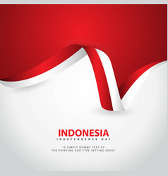 Indonesia independence day template design vector