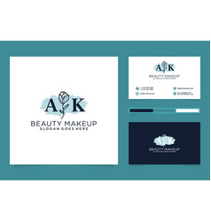 Initial ak feminine logo collections and business vector