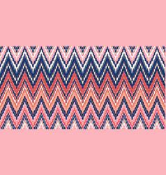 Interlaced zigzags bohemian fashionable seamless vector