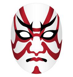 Japan kabuki mask on a white background vector