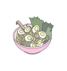 japanese ramen noodle vector image