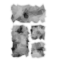 Low poly monochrome banners vector