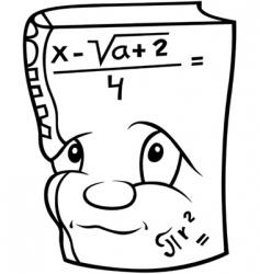 mathematics book vector image
