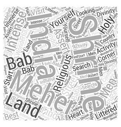Meher Bab Word Cloud Concept vector