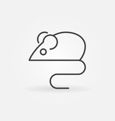 mouse animal concept icon in thin line vector image