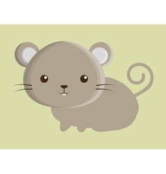Mouse animal cute little design vector